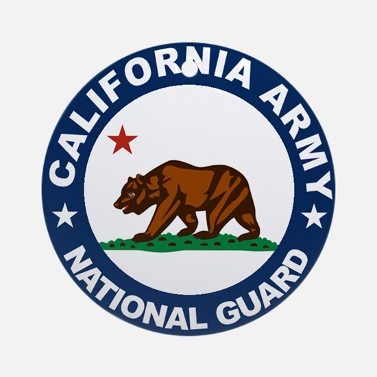California Army National Guar Ornament (Round)