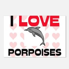 I Love Porpoises Postcards (Package of 8)