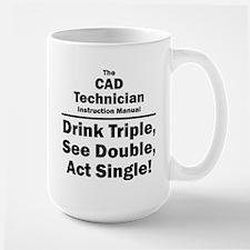 CAD Technician Large Mug