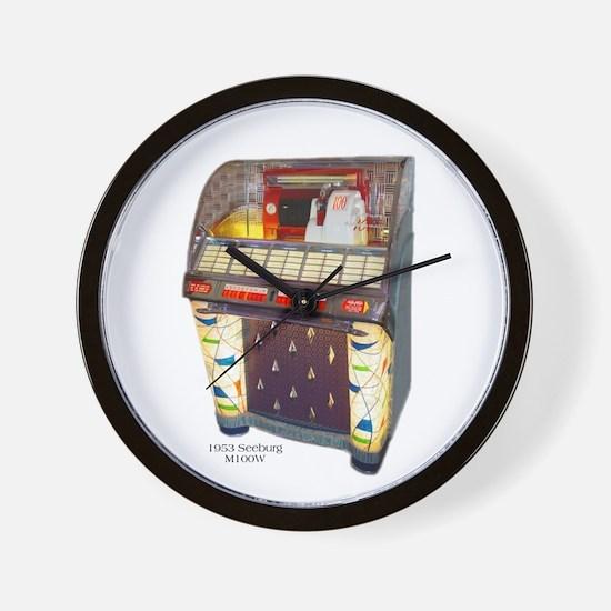 Seeburg M100W Jukebox Wall Clock