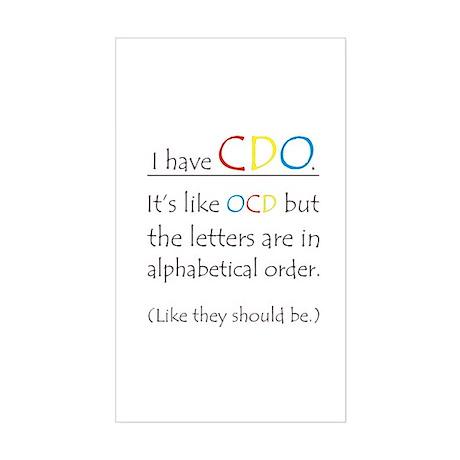 I have CDO ... Rectangle Sticker