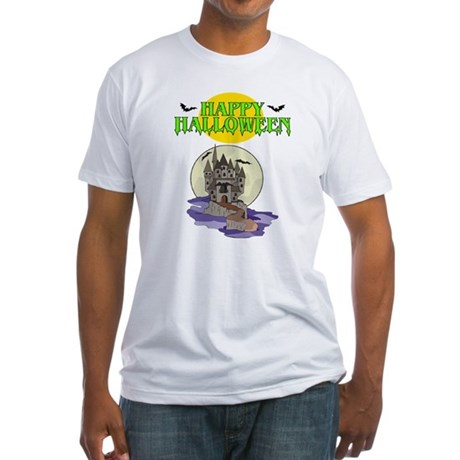 Happy Halloween (Haunted House) Fitted T-Shirt