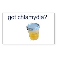 Got Chlamydia? Rectangle Decal