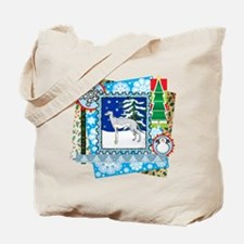 Scrapbook Greyhound Christmas Tote Bag