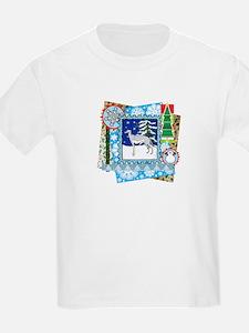 Scrapbook Greyhound Christmas T-Shirt