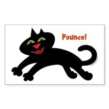 Pounce Cat Rectangle Decal