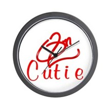 Red On2 Cutie Wall Clock