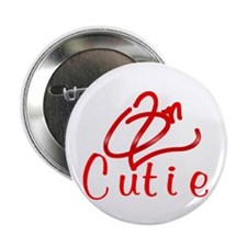 "Red On2 Cutie 2.25"" Button"