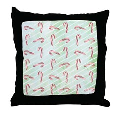 Striped Candy Cane Throw Pillow