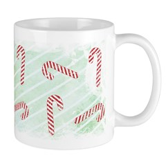 Striped Candy Cane Ceramic Coffee Mug