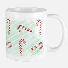 Striped Candy Cane Ceramic Coffee Mug