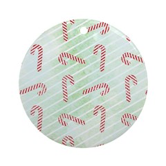 Striped Candy Cane Ornament (Round)