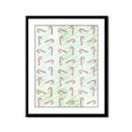 Striped Candy Cane Framed Panel Print