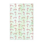 Striped Candy Cane Mini Poster Print