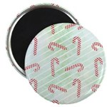 """Striped Candy Cane 2.25"""" Magnet (10 pack)"""