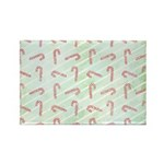 Striped Candy Cane Rectangle Magnet (100 pack)
