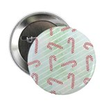 "Striped Candy Cane 2.25"" Button"