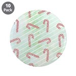 "Striped Candy Cane 3.5"" Button (10 pack)"