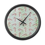 Striped Candy Cane Large Wall Clock
