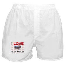 I Love Pilot Whales Boxer Shorts