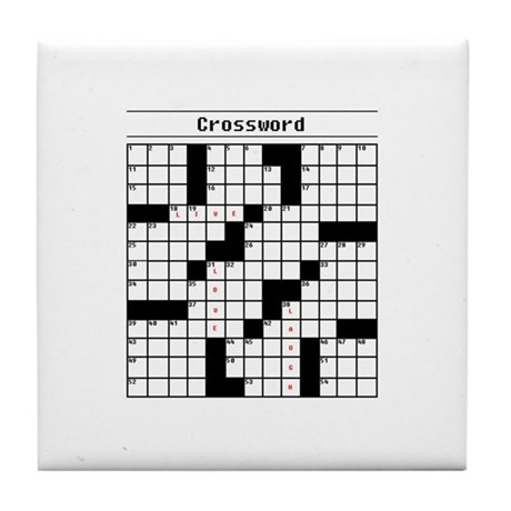 Crossword Puzzle Tile Coaster