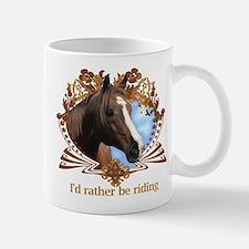 I'd Rather Be Riding Horses Small Small Mug
