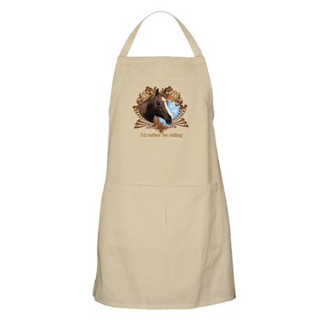 I'd Rather Be Riding Horses BBQ Apron