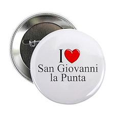 """""""I Love (Heart) San Giovanni la Punta"""" 2.25"""" Butto"""