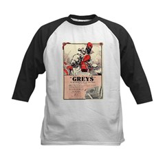 Greys Cigs Kids Baseball Jersey