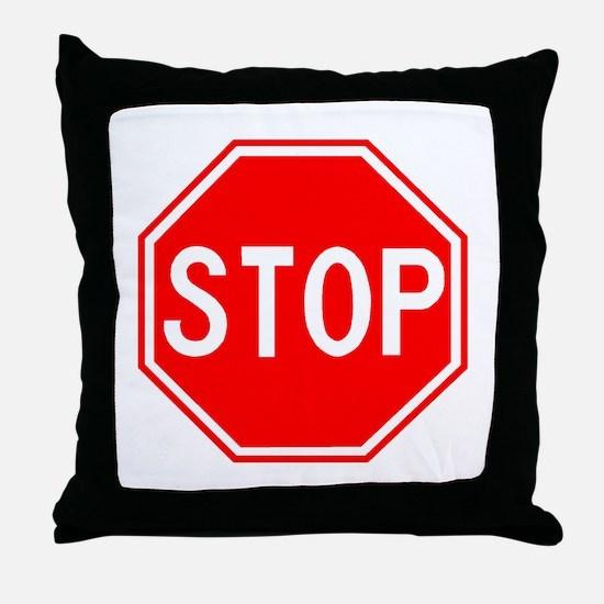 Stop Sign Throw Pillow