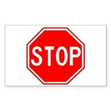 Stop Sign Rectangle Decal