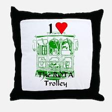 AFTM I Love The ROTA Trolley Throw Pillow