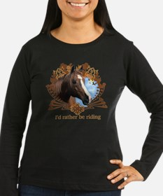 I'd Rather Be Riding, Horse T-Shirt