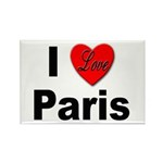I Love Paris Rectangle Magnet (10 pack)