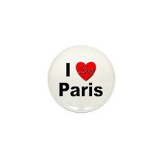 I Love Paris Mini Button (10 pack)