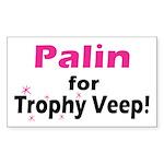 Trophy Veep Rectangle Sticker 50 pk)
