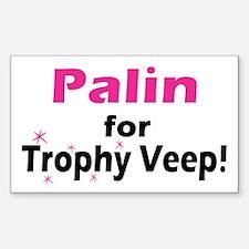 Trophy Veep Rectangle Decal