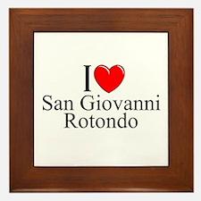 """I Love (Heart) San Giovanni Rotondo"" Framed Tile"