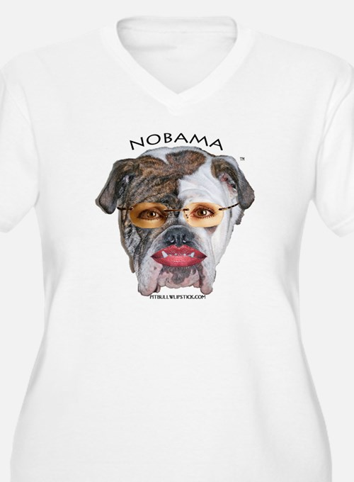 NO BAMA PIT BULL WITH LIPSTICK SHIRT, 20% TO RNC W
