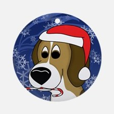 Candy Cane Beagle Christmas Ornament