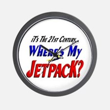 Funny Jet Pack Future Wall Clock