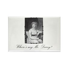Where's my Mr. Darcy? Rectangle Magnet (100 pack)