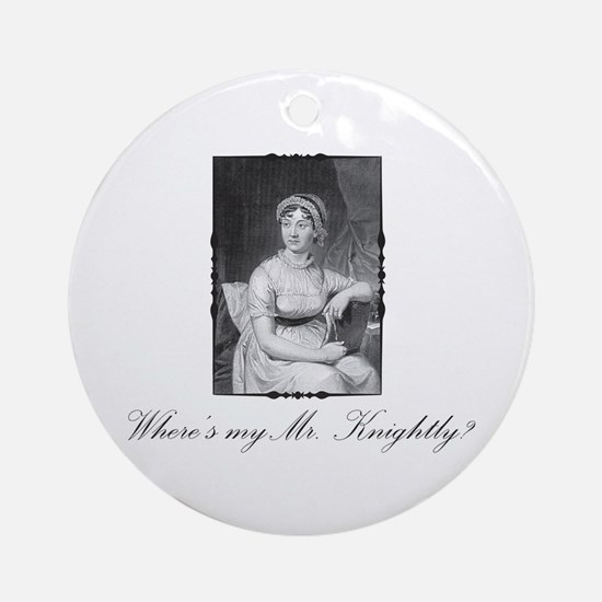 Where's my Mr. Knightly? Keepsake (Round)