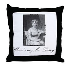 Where's My Mr. Darcy? Throw Pillow
