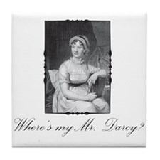Where's My Mr. Darcy? Tile Coaster