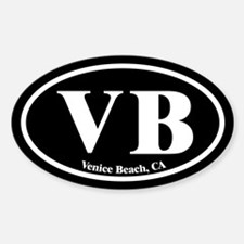 Venice Beach VB Euro Oval Oval Decal