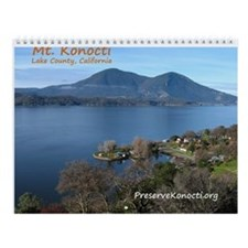 Cute Mt konocti Wall Calendar
