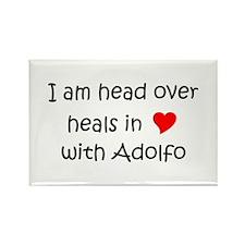 Funny I love adolfo Rectangle Magnet