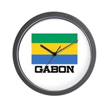 Gabon Flag Wall Clock