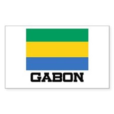 Gabon Flag Rectangle Decal
